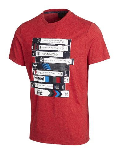 hummel Cesc t-Shirt à Manches Courtes pour Homme Small Rouge - Rouge