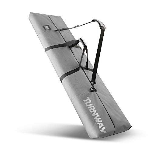 TurnWay Snowboard Bag | Store & Transport Snowboard Up to 165 cm & Extras | Waterproof - for Men, Women and Youth (Grey)
