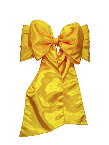 LinenTablecloth Satin Sash (10-Piece) Lemon