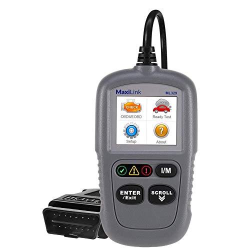 Autel MaxiLink ML329 OBD2-Diagnosegerät, Universal KFZ-Scanner für VW BMW Porsche etc. Fehlercode-Auslesegerät und löschen, Software Free Update