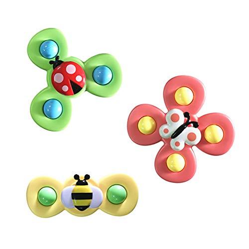 N\A Saugnapf Top Spielzeug Saugnapf Baby Spielzeug Spinning Tops Fingerspielzeug Cartoon Tier Saugspielzeug, Für Baby Kinder Kinder Spielzeug 3ST A