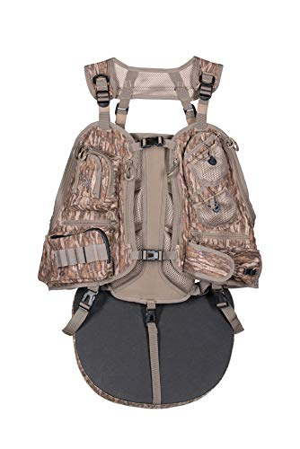Knight & Hale Run-N-Gun 300-BL Turkey Vest - Mossy Oak Bottomland, One Size (KHT0096)