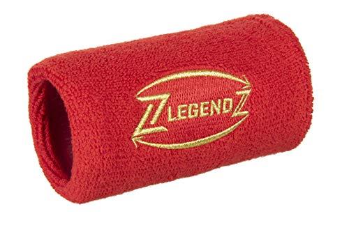 LegendZ - Cinta de deporte de diseño - Práctico bolsillo con cremallera, bolsillo en la muñeca, cinta de deporte para hombres, mujeres, niños en 4 colores, etiqueta dorada bordada | rojo