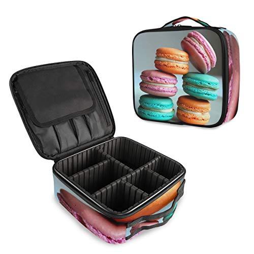 Colorful Macarons Trousse de Maquillage Professionnelle de Voyage Trousse de Maquillage Organisateur Portable Trousse de Toilette Sac de Voyage pour Femme