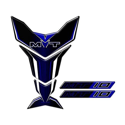 Protector DE Tanque Moto Para YAM-AH-A MT10 MT-10 MT 10 Pegatinas 3D Protector De Almohadilla De Tanque Carenado Accesorios De Rodilla De Motocicleta Calcomanía 2016 2017 2018 2019 2020 Calcomanías de