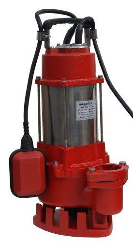 megafixx MTP1100T Schmutzwasser Tauchpumpe bis 24000 Liter pro Std 2 Zoll Ausgang inkl. C Storz Kupplung
