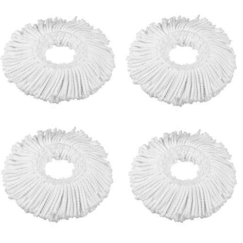 360° Spin Balai Serpillère Mop Heads, ZZM Tête de balai à franges de rechange en microfibre Spin Balai serpillère Recharge Forme ronde Tête de balai à franges