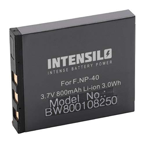 INTENSILO batería Li-Ion 800mAh (3.7V) Compatible con BenQ DC-E600, DC5330 cámara, cámara de vídeo reemplaza NP-40, D-Li8, Klic-7005.