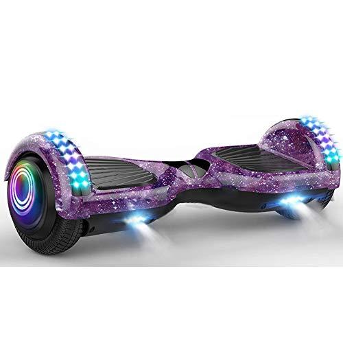 JYUE Monopatín Bluetooth, Balance Board, Self-Balance Board con Ruedas De Flash LED, Scooter Eléctrico…