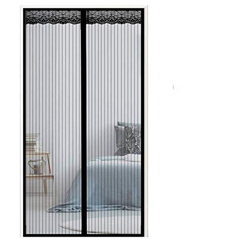 GUOGAI Mosquitera para Puerta 170x240cm(67x94inch) Mosquiteras Correderas Pegado sin Taladrar contra Insectos para Sala de Estar Balcón, Negro