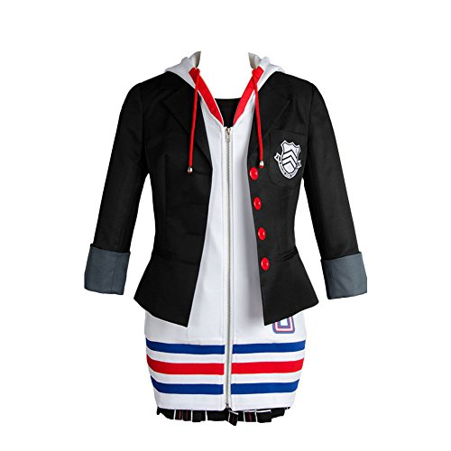 Daiendi Megami Tensei Persona 5 Anne Ann Takamaki - Disfraz de adulto (talla europea) Negro Negro ( XL