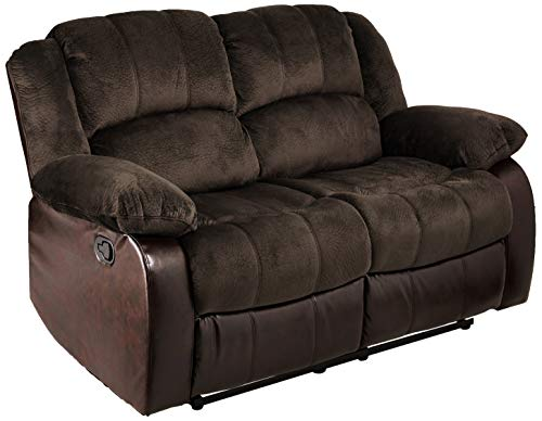 NHI Express Aiden Champion & PU Motion Loveseat (2 reclining seats), Brown