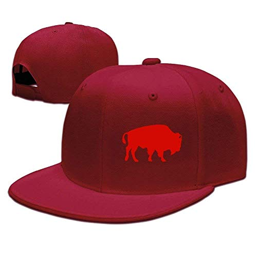 Cool Bison Adjustable Flat Brim Baseball Cap Hip Hop Hat