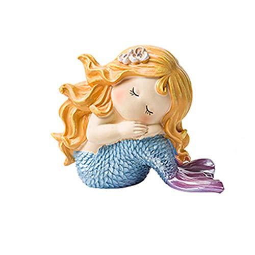 DANJIA Joyería Sirena Adornos Fresca pequeña nórdica muñeca de la Historieta de Escritorio Adornos Vivo Creativo de la decoración del Sitio