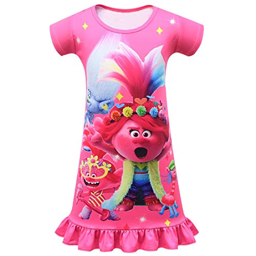 Tsyllyp New Princess Character Dress for Girls Halloween Costumes Toddler Cartoon Nightgowns