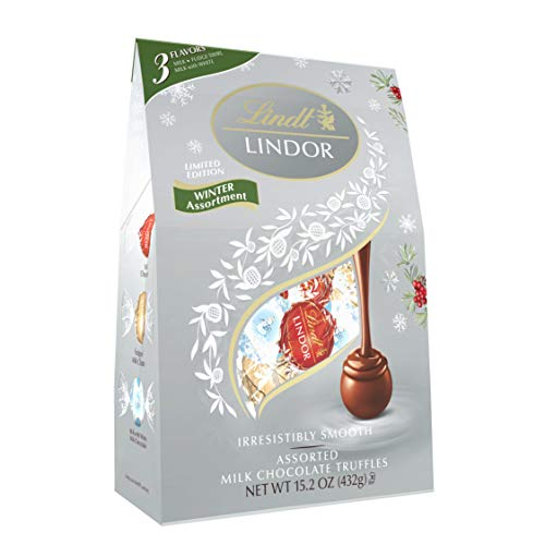 Lindt Holiday Winter Assorted Chocolate Truffles Bag, Great for Holiday Gifting, 36 Pieces