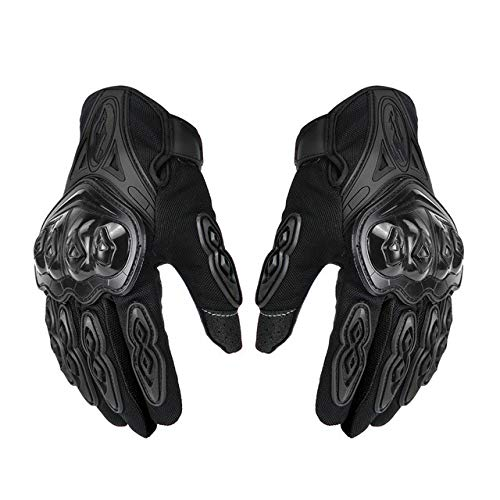 Guantes de motocicleta de los hombres de carreras de motocross guantes de montar motocicleta transpirable verano completo dedo corona