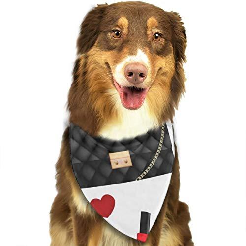 Dames Hoge hak Cosmetica Aangepaste Hond Hoofddoek Heldere Gekleurde Sjaals Leuke Driehoek Bibs Accessoires Voor Huisdier Honden