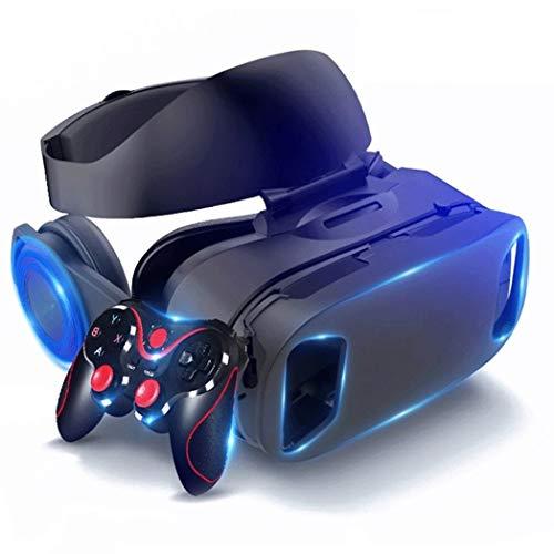 JYMYGS Gafas VR, Gafas de Realidad Virtual, VR Glasses Visión Panorámico 360 Grado Película 3D Juego Immersivo para Móviles 4.0-6.0 Pulgada para iPh X/7/6s 6/Plus, Galaxy s8/ s7, etc. N072JL