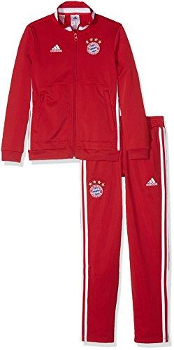adidas Kinder FC Bayern München Polyester Trainingsanzug, Top:FCB True Red/White Bottom:FCB True Red/White, 152