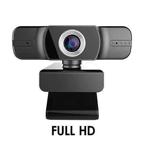 iClosam Webcam, USB Webcam, Full HD Videocamera 1080p, con Microfono Incorporato, Campo visivo 120°, per Conferenze, Corsi Online, Trasmissioni in Dir