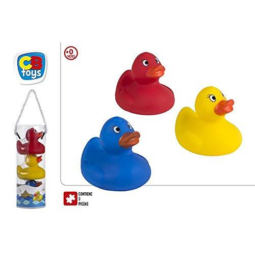 Patitos de Goma, para Baño, Flotantes, Multicolor, para Bebés. Diseño Original, con Estilo Baby. Set de 3 - Hogar y Más