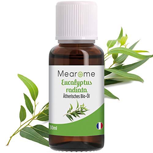 Eukalyptusöl BIO⎟Ätherisches Öl 100% Naturrein⎟Eucalyptus Radiata Inhalation Diffusion Aromatherapie Aroma Diffuser Naturkosmetik Erfrischend Befreiend verstopfte Nase Vegan⎟Bien-Être Mearome