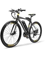 WXDP Bicicleta eléctrica autopropulsada para adultos autopropulsada, frenos de disco doble 26 pulgadas Ciclismo Viaje Ciudad Ebike 300W 36V batería antirrobo unisex, rojo, 10AH