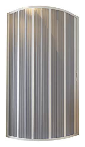 Forte Bxf140001 - Cabina de ducha con fuelle semicircular 90-70 x 90-70 cm, reducible,...