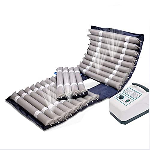 Yongqin Cojín Antiescaras Colchón De Aire Antiescaras con Orificio Diseño Jet Mute con Micro Orificios Adecuado para Reposo En Cama A Largo Plazo Y Pacientes con Acné, Gris, 195X90Cm