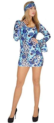 Maylynn 14240-L - Disfraz de Hippie Zoe Vestido década de los 60 y 70 Mujer, Talla L Aprox. 44