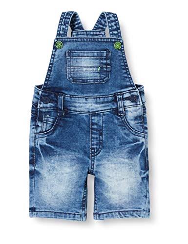 s.Oliver Junior Baby-Jungen Latzhose kurz Jeans-Shorts, 54Z3 stone wash destroy, 86