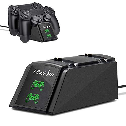 Cargador Mando PS4, Tihokile Estación de Rápida Carga para Controlador Playstation4 /...