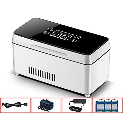 Refrigerador portátil de medicamentos, refrigerador de insulina, refrigerador de mini automóvil, utilizado para refrigeración de interferón, insulina y otros medicamentos, refrigerador recargable