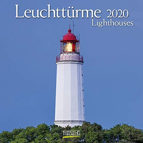 Leuchttürme 2020: Broschürenkalender mit Ferienterminen. Leuchtturm und Küste. 30 x 30 cm - Wandkalender