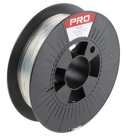 RS PRO 2.85mm Transparent 3D Printer Filament, 500g