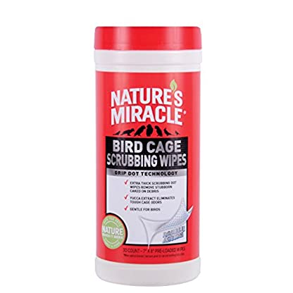 Nature's Miracle 30 Count Bird Cage Scrubbing Wipes 1