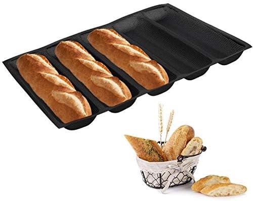 NaisiCore 1PC Baguette Pan de moldes antiadherentes de Recubrimiento Perforadas Baguette sartenes para Hornear Pan franc/és Cocina Profesional Herramienta de Bakers Masa Hacer moldes M