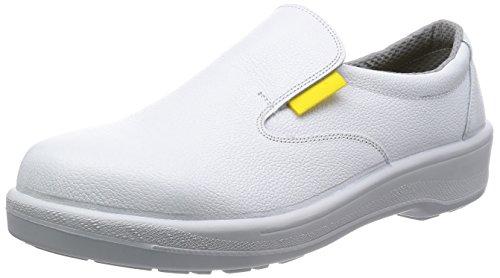 [シモン] 静電安全靴 短靴 スリッポン 7517 メンズ 白 28