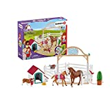 Schleich 42458 Club Hannah's Guest Horses with Ruby The Dog, Multicoloured