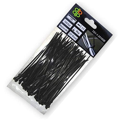 arbeitsbedarf24 100 STK. Kabelbinder 450x8,80 mm schwarz Nylon66 Zugkraft: 80 Kg Qualitätware
