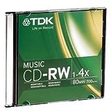 TDK 47912 CD-RW 80min Music 1X-4X Slim Jewelcase