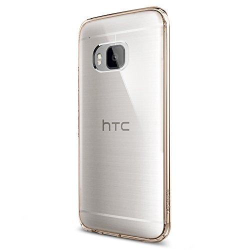 Spigen Schutzhülle HTC One M9 Hülle ULTRA HYBRID [Air Cushion-Technologie zur Stoßdämpfung] - Tasche für HTC One M9, durchsichtige Rückschale - Champagne Crystal [Champagne Crystal - SGP11383]