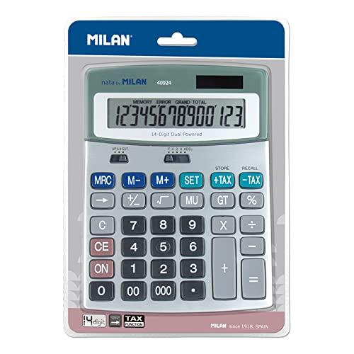 Calculadora metálica de sobremesa MILAN 14 dígitos