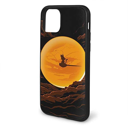 Son Goku Dragon Ball Z Compatible con iPhone 12/12 Pro MAX 12 Mini 11 Pro MAX SE 2020 X/XS MAX XR 8/7 6/6s Plus Fundas de teléfono de protección Negra