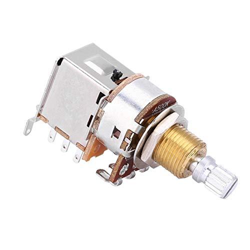 Germerse Potenciómetro de Interruptor, potenciómetro de Guitarra eléctrica Duradero, Interruptor de Dos Niveles para Amantes de la Guitarra, Fabricantes de Instrumentos