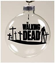Merch Massacre Crosses Walking Dead Walker Zombie Ornament Glass Disc