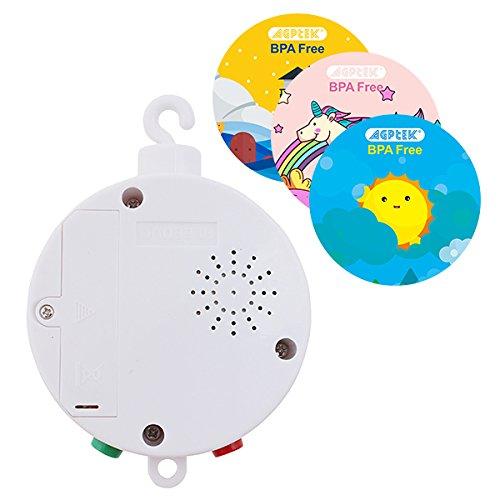 Elektrische Baby Spieluhr Mobile Music Box,FITNATE 12 Melodien inklusive