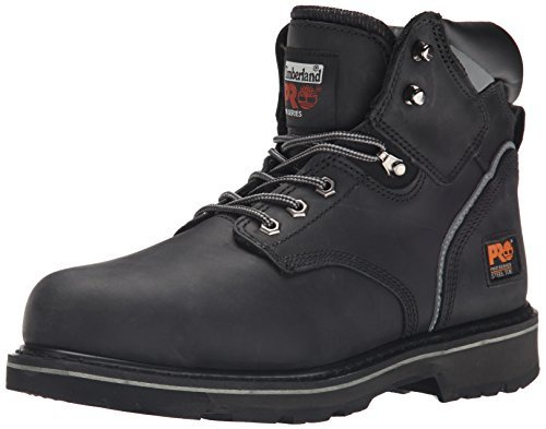 "Timberland PRO mens 6"" Pit Boss Steel Toe Snow Shoe, Black Oiled Full-grain Leather, 10.5 US"