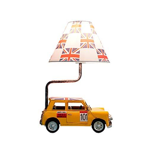 lampara de lectura Personalidad estadounidense Tabla retro de la lámpara del estilo británico clásico del muchacho de los niños de dibujos animados de coches lámpara de escritorio con el interruptor d